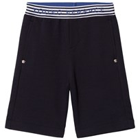 Young Versace Navy Branded Waist Sweat Shorts Y3732