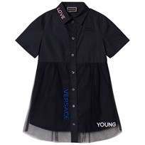 Young Versace Navy Love Branded Tu Dress Y4023