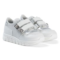 Young Versace White Medusa Branded Velcro Trainers YS23N