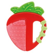 Chicco Teethers, Silicone, Apple/Strawberrys Punainen
