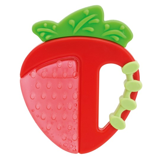 Chicco Teethers, Silicone, Apple/Strawberrys Red