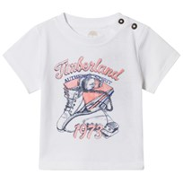 Timberland White Boot Branded Tee 10B