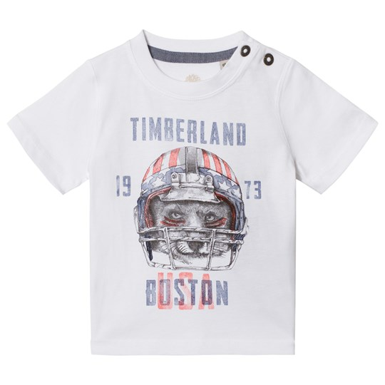 Timberland White Football Fox Print Tee 10B