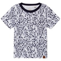 Timberland White All Over Print Skateboard Tee 10B