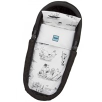 rattstart Moomin Duvet Cover Set for Pram/Cradle White/Black Black