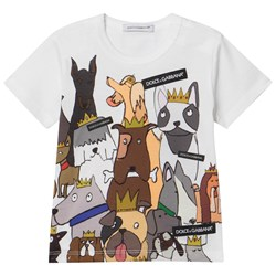 Dolce & Gabbana White D&G Dogs Branded Tee (Chinese New Year)