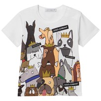 Dolce & Gabbana White D&G Dogs Branded Tee (Chinese New Year) HWL11