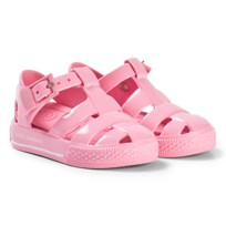 Dolce & Gabbana Pink Branded Jelly Sandals 80400