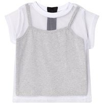 The BRAND Tulle Tee White/Grey Melange white/grey mel