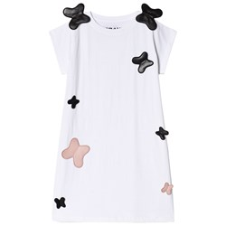 The BRAND Crazy Butterfly Dress White
