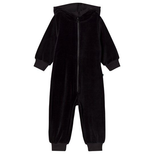 The BRAND Velour Onesie Black Black