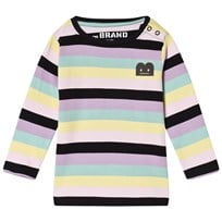 The BRAND B-Moji Tee Pastel Stripes pastellstripe