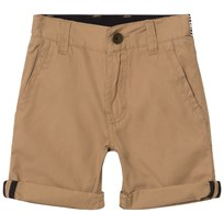 BOSS Tan Chino Shorts with Belt 269