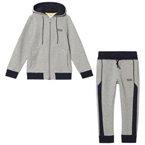 BOSS Grey Marl Branded Tracksuit A33
