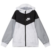 NIKE White Grey and Black NSW HD Jacket 102
