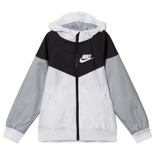NIKE White Grey and Black Windrunner Jacket 102