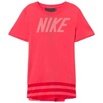NIKE Pale Pink Nike Dry Short Sleeve GX Top 823