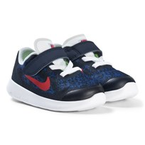 NIKE Navy Red and White Nike Free Toddler Shoes 405