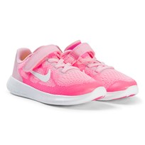 NIKE Pink and White Nike Free Running Pre School Shoes 602