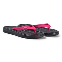 NIKE Black and Pink Solay Thong Flip Flops 002