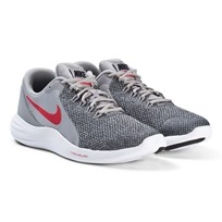 NIKE Grey and White Red Nike Lunar Apparent Running Shoes 003