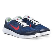 NIKE Navy Red and White Nike Free Running Shoes 405