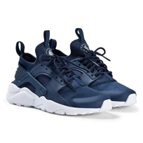 NIKE Navy and White Nike Air Huarache Run Ultra Shoes 406