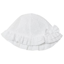 Mayoral White Broderie Anglaise Bow Sun Hat