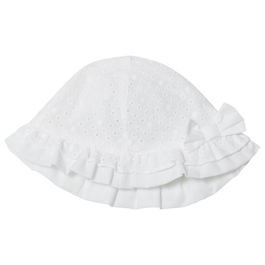 Mayoral White Broderie Anglaise Bow Sun Hat 62