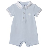 Timberland Pale Blue Tree Logo Jersey Polo Romper 771