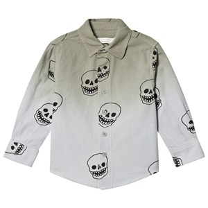 Image of Stella McCartney Kids Grey Skull Print Samuel Shirt 10 years (2919323483)