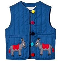 Stella McCartney Kids Blue Donkey Embroidered Gilet 4262