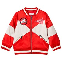 Stella McCartney Kids Red Wishing You Were Here Willow Bomber 6165