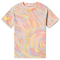 Stella McCartney Kids Orange Savannah Marbled Print Tee 5771