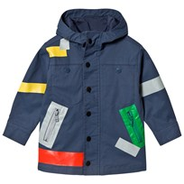Stella McCartney Kids Navy Liam Color Box Water Repellent Parka 4263
