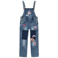 Guess Mid Wash Embroidered and Applique Dungarees PWTW