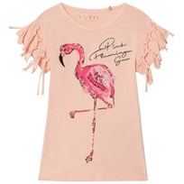 Guess Pink Flamingo Tassle and Sequin Tee STPK