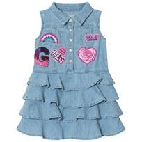 Guess Blue Denim Badge Dress MEBA