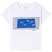 Carrément Beau White Swimming Pool Print Tee 10B