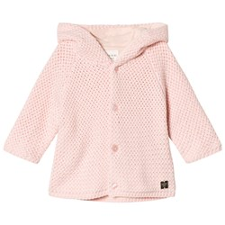 Carrément Beau Pink Cotton Knit Hooded Jumper