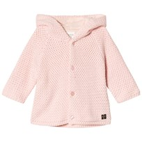Carrément Beau Pink Cotton Knit Hooded Jumper 453
