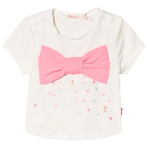 Image of Billieblush Ivory Bow Detail Tee 2 years (2919323637)