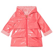 Billieblush Fuchsia Glitter Branded Raincoat 499