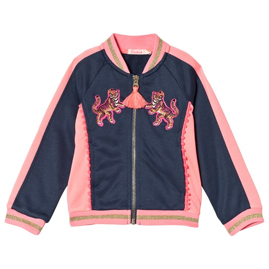 Billieblush Navy and Pink Embroidered Bomber Jacket 82H