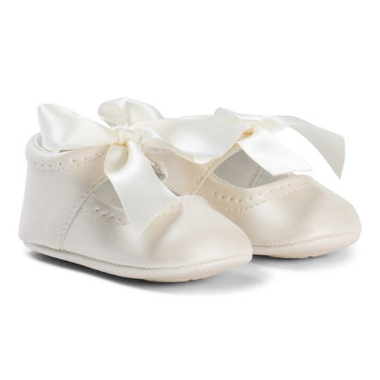 Mayoral Cream Bow Detail Crib Shoes 89
