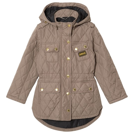 Barbour Taupe International Absorber Quilt Jacket BE51