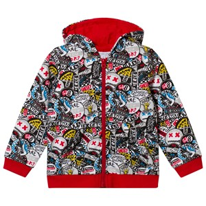 Image of Little Marc Jacobs Black All Over Print Badge Hoody 12 years (2920302127)
