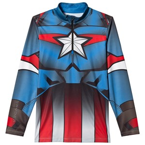 Image of Spyder Captain America Marvel T-Neck 1/4 Zip Mid Layer L (14-16 years) (2920302047)