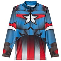 Spyder Captain America Marvel T-Neck 1/4 Zip Mid Layer 434 FRB/ CAPTAIN