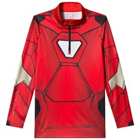 Spyder Iron Man Marvel T-Neck 1/4 Zip Mid Layer 600 RED/ IRON MAN